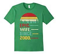 20th Wedding Anniversary Gift For Her Epic Wife Since 2000 Shirts Forest Green