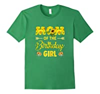 Mom Of The Birthday Girl Mom Sunflower Gifts Shirts Forest Green