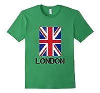 London, England Union Jack Shirts Forest Green