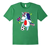 Soccer Unicorn Iceland Design Iceland Football Gift Shirts Forest Green