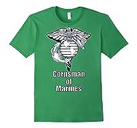 Back Design 8404 Fmf Corpsman Military Veteran Shirts Forest Green