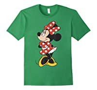 Mickey And Friends Minnie Mouse Traditional Portrait Shirts Forest Green
