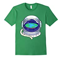 Flat Earth Map Design For A Flat Earth Society Shirts Forest Green