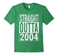 Straight Outta 2004 | Great 14th Birthday Gift Idea T-shirt Forest Green