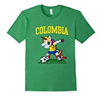 Dabbing Soccer Colombia Unicorn Colombian Football Shirts Forest Green
