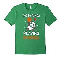 Basketball Panda Premium T-shirt Forest Green