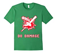 Done Damage Red Boston Championship Baseball Fan Awesome T-shirt Forest Green