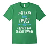 Just A Girl Who Loves Her Cavalier King Charles Spaniel Shirts Forest Green