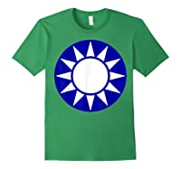 Taiwan Flag Kuomintang Symbol Shirts Forest Green
