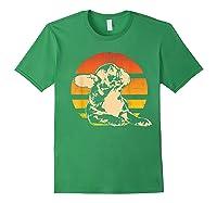 Retro French Bulldog T-shirt Gift Forest Green