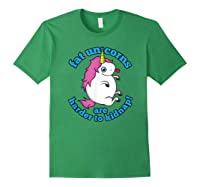 Fat Unicorns Are Harder To Nap Funny Humor Gift Shirts Forest Green