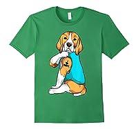 Beagle I Love Mom Apparel, Dog Mom Gifts Shirts Forest Green