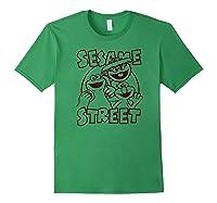Sesame Street Crunch Characters T Shirt Forest Green