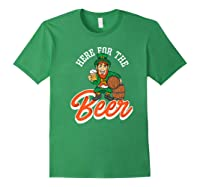 Here For The Beer | Funny St. Patrick\\'s Day Drunk Premium T-shirt Forest Green