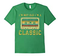 Vintage Cassette I'm Not Old I'm A Classic 1959 60th Shirts Forest Green