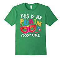 This Is My Purim Costume Jewish Purim Gift Shirts Forest Green