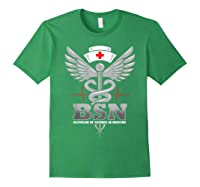 Gift For Bachelor Nurse Nurses Nursing Stay Strong T-shirt Forest Green