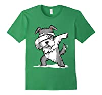 Schnauzer Cute Dabbing Funny Dab Dance Gif Shirts Forest Green