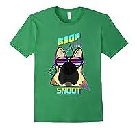 Vaporwave 80's Style Pet Dog Boop That Snoot German Shepherd Shirts Forest Green