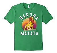 Disney The Lion King Simba Hakuna Matata Pride Rock Portrait Premium T-shirt Forest Green