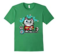 The Big Bang Theory Purr Purr Purr Shirts Forest Green