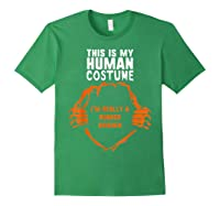 This Is My Human Costume I'm Rubber Chicken Halloween Shirts Forest Green