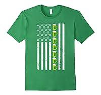 Funny Oktoberfes American Flag Beer Pretzel Shirts Forest Green