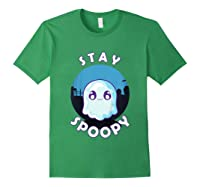 Stay Spoopy Cute Funny Halloween Shirts Forest Green