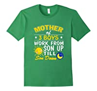 Mother's Day Mother Of 3 Shirts Forest Green