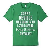 S Merry Christmas Neville Funny Xmas Gag Gift Custom Name T-shirt Forest Green