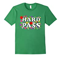 Hard Pass Floral Baseball Feminist Shirts Forest Green
