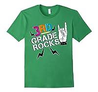 3rd Grade Rocks, 1st Day Of School Shirt Students Teas Forest Green