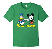 Disney Mickey Mouse And Donald Duck Best Friends T-shirt Forest Green