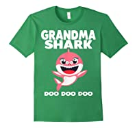 Grandma Shark Doo Doo Shirt For Matching Family Pajamas T-shirt Forest Green