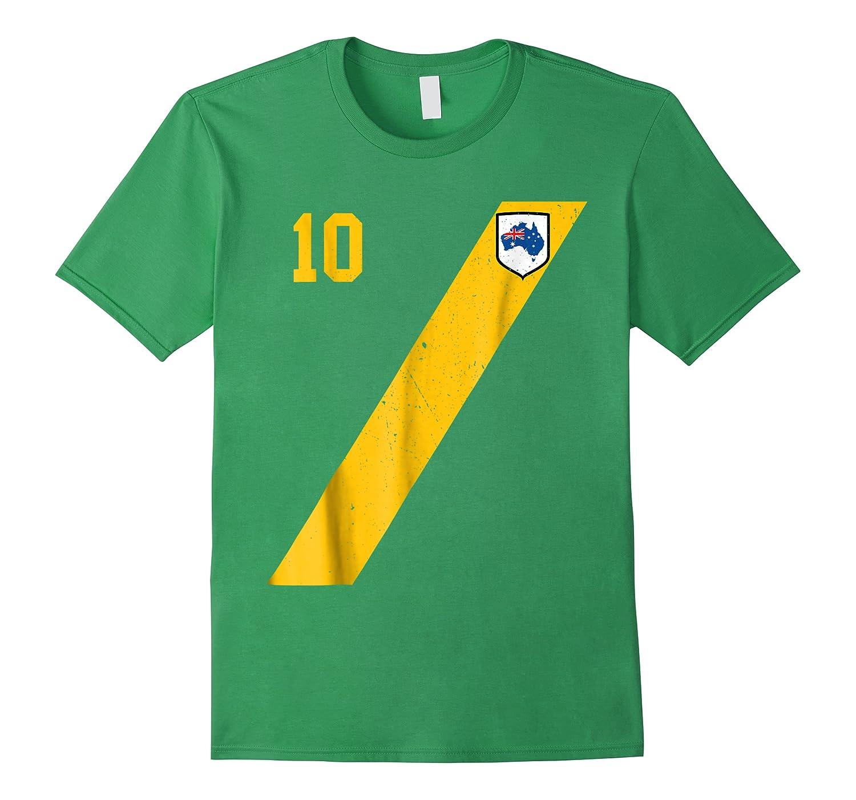 Retro Australia Soccer Aussie In Green Shirts