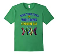 Rock Your Socks For World Down Syndrome Day Gift Shirts Forest Green
