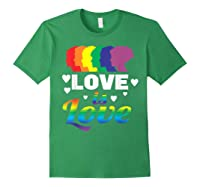 Colorful Pride Love Lgbt Suppor Gifts Love Is Love Shirts Forest Green