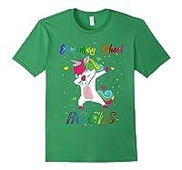 Eletary School Rocks Dabbing Unicorn Back To School Gifts T-shirt Forest Green