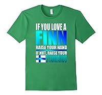 Funny Finnish Finn Pride Finland Flag Love A Finn Shirts Forest Green