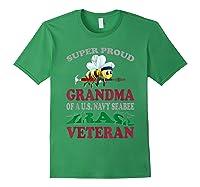 Super Proud Grandma Of A U.s. Navy Seabee Iraq Veteran T-shirt Forest Green