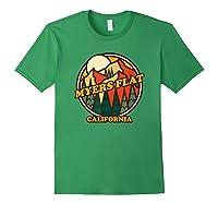 Vintage Myers Flat California Mountain Hiking Souvenir Print T-shirt Forest Green