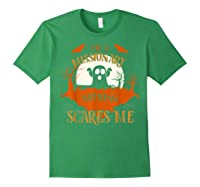 Missionary Nothing Scares Me Funny Halloween T-shirt Forest Green