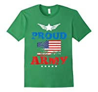 Proud Army American Soldier Air Flag Honor Gift T-shirt Forest Green