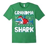 Grandma Shark Santa Christmas Family Matching S Shirts Forest Green
