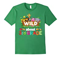Wild About 3rd Third Grade Tea Student Back To School T-shirt Forest Green