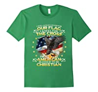 Christian Patriotic American Flag Shirts Forest Green