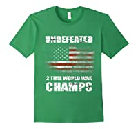 Undeted 2 Time World War T Shirt 4th Of July Shirts Gifts T-shirt Forest Green