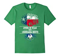 Texas Home Louisiana Roots State Tree Flag Shirt Love Gift Forest Green