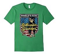 Worlds Best Rottweiler Grandpa Shirts Forest Green
