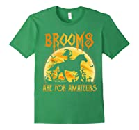 Halloween Brooms Are For Amateurs Horse Riding Shirts Forest Green